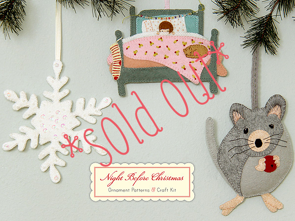 Posie Gets Cozy Night Before Christmas Ornament Kits Sold Out