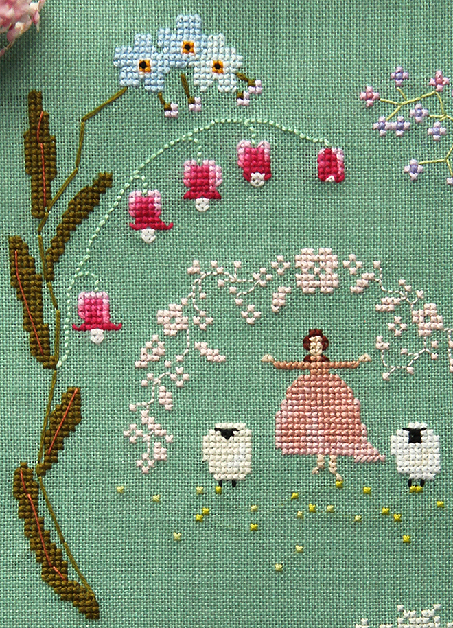 Posie Gets Cozy Time Of Flowers Cross Stitch Kit Now Available For