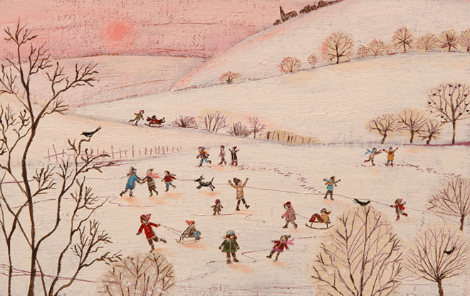 ChildrenPlayinginSnowLucyGrossmith