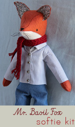 Mr. Basil Fox Hand-Stitched Softie Kit
