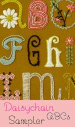 Daisychain ABCs Crewel Pattern