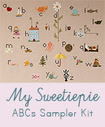 My Sweetiepie ABCs Sampler Cross Stitch Kit