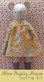 Miss Phyllis Mouse Hand-Stitched Softie Kit