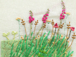 happy my tiny garden with pretty flowers melissa was kind enough to bring me a book tiny embroidery tiny garden isbn 4 277 31144 x the other day and i - Embroidery Garden